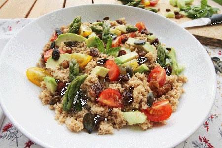 Taboul revisit quinoa peautre et graines de courges grill es terra eco - Graines de potimarron grillees ...