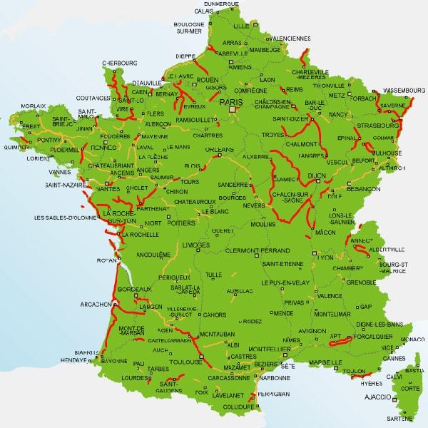 Carte De France Avec Villes à Imprimer | My blog