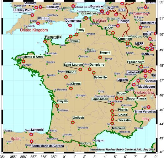 Risque nucléaire : état des lieux en 8 cartes, du Japon à la France - Terra eco