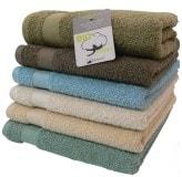 Serviette De Bain Coton Bio.Serviette Eponge Coton Bio Coloris Creme Terra Eco